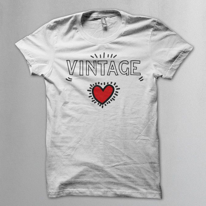 Vintage (Keith Haring style) t shirt -  Vintageness Collection - Vintage t shirts  www.vintage.it