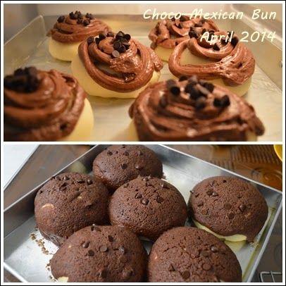 Mexican Bun   Coffee Choco flavor topping