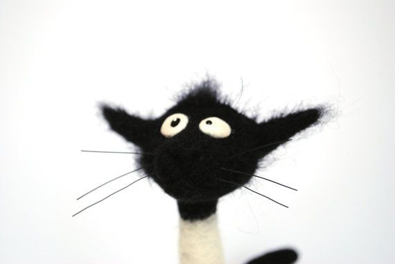 Make to order Needle Felted - Cat Solange - Hallmarks of Felinity - Soft Sculpture, OOAK - I will Make to order on Etsy, $54.46 CAD