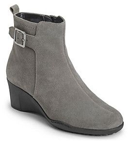 $64, Aerosoles Rosoles Entorage Wedge Ankle Boots. Sold by Bon-Ton. Click for more info: https://lookastic.com/women/shop_items/110874/redirect