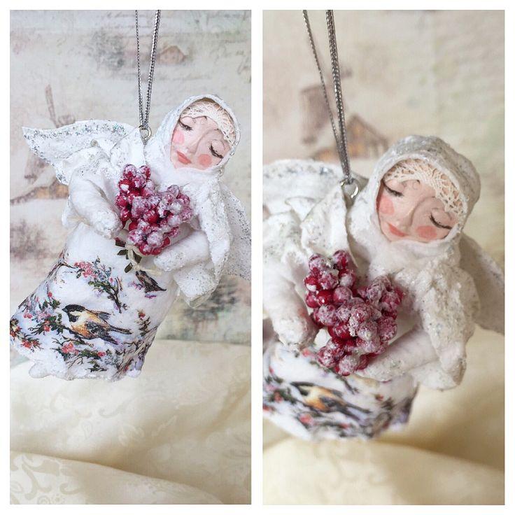 Снежный ангел Марта #annettedecor #ватнаяигрушка #хендмейд #handmade #новыйгод #рождество #елочнаяигрушка #игрушканаелку #авторскаяигрушка #ручнаяработа #ватнаяигрушканаёлку