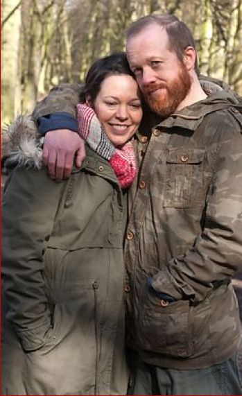 Olivia Colman with another ginger beardy man who plays her onscreen husband! I think she has a beard fetish! Sadly, he looks nowhere near as cute as Alec Hardy! #TheSecrets (Episode 1 - The Dilemma)