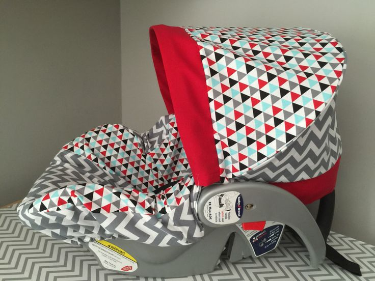 Items Similar To READY SHIP Remix Triangles Gray Chevron Zigzag Fabric Baby Car Seat Cover Red Aqua On Etsy