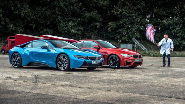 BMW i8 vs BMW M4 - Top Gear: Drag Races