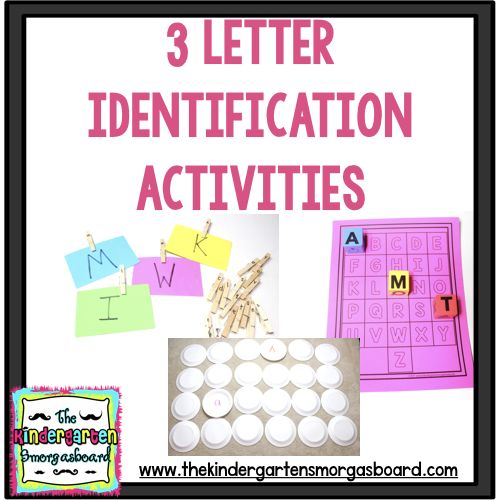 This blog post features 3 easy DIY projects to help students with letter identification. These letter recognition activities are hands on and engaging!