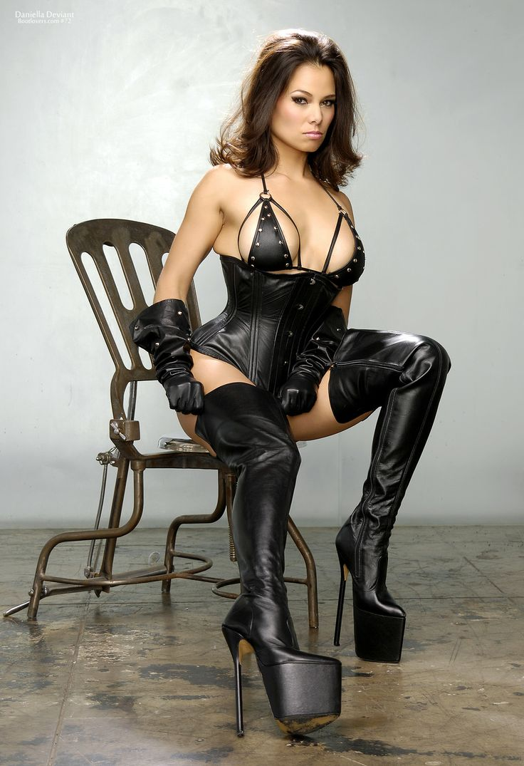 Congratulate, simply black leather boots sex