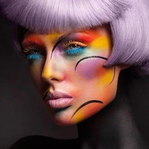 Creative And Fun Editorial Makeup. Mod Magazine Makeup