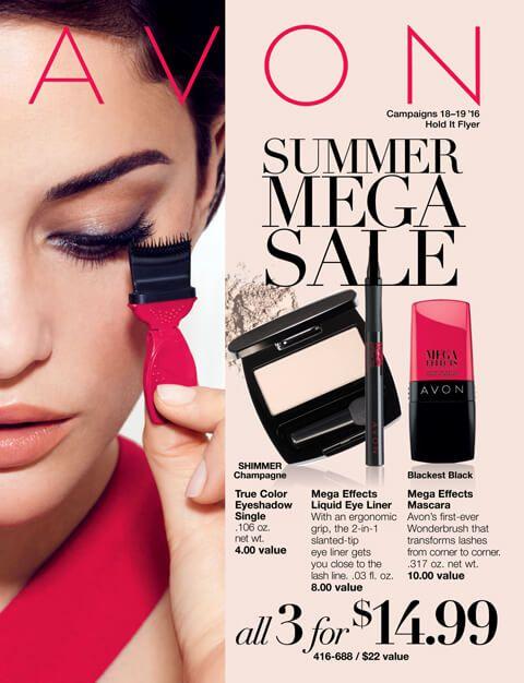Avon Campaign 18 2016 brochures effective online August 2, 2016 -August 15, 2016.