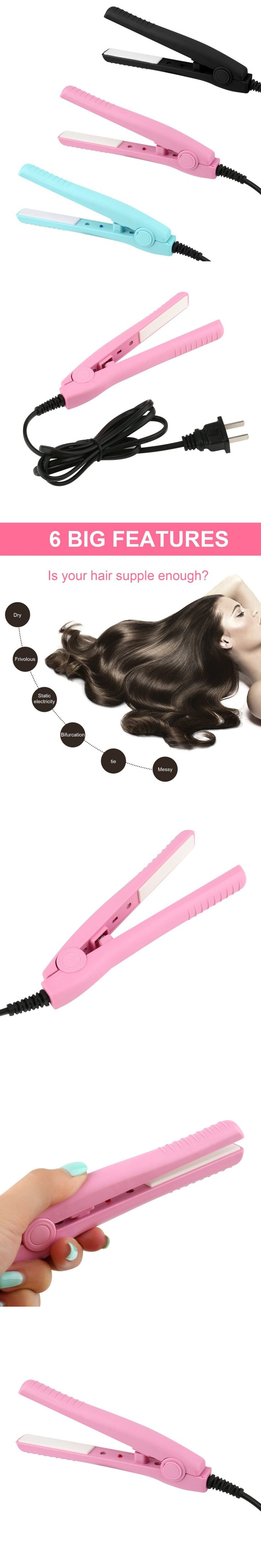 Mini Portable Electric Splint Flat Iron Ceramic Hair Curler & Straightener Hair Perming Hair Styling Appliance Hair Crimper new