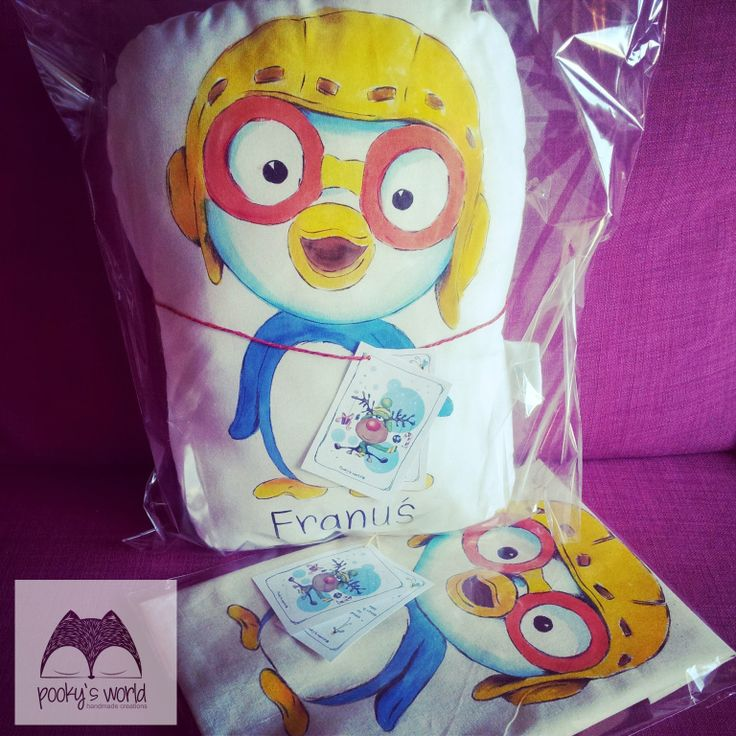 special order - handpainted pillow  #handmade #handpaited #pillow #pooky