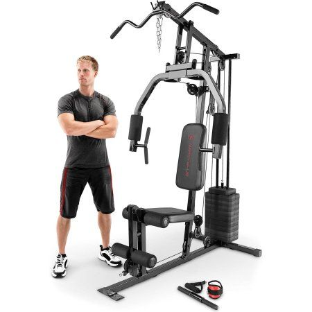 Marcy 150-Pound Stack Home Gym, Gray