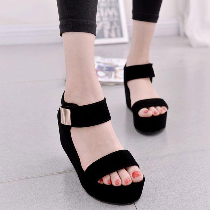2017 새로운 여성 웨지 샌들 여성 플랫폼 샌들 패션 여름 신발 여성 캐주얼 신발 무료 배송