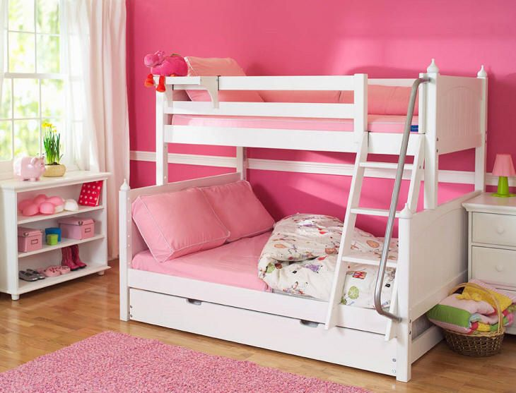 twinfull bunk bed option of under bed trundle or drawers para