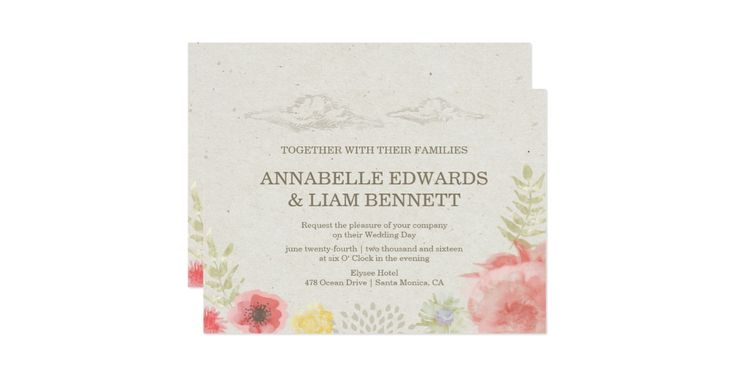 This whimsical Wedding Invitation features watercolor flowers of a summer meadow with dreamy colouds in the sky. For the perfect mood of a summer Wedding. This beautiful printed RSVP can be customized for your special day. Check out the SplendidSummer Store for Wedding Invitation, Envelope, Table Numbers, RSVP and other products to match this design.  Please contact us if you need more customizations, we can create anything you need. Email us at: info@luenegrafik.com. This is an original…
