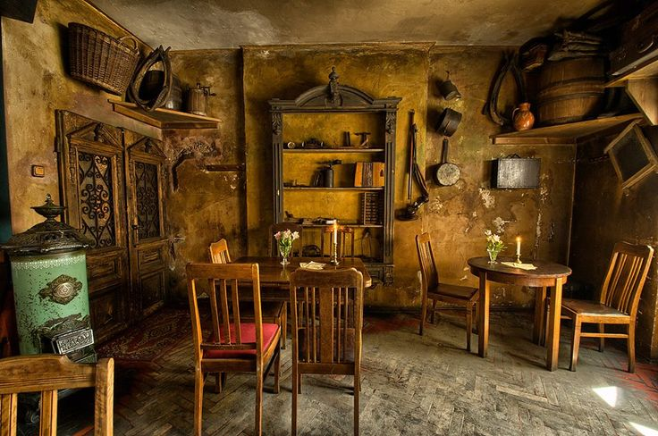 Once Upon a Time in Krakow at the Old Jewish Quarter Café. But it can look like some where the the nanny and kids would stay.