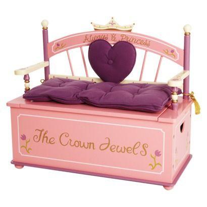 Princess Toy Box Bench.  NEED!!!!  Target.com