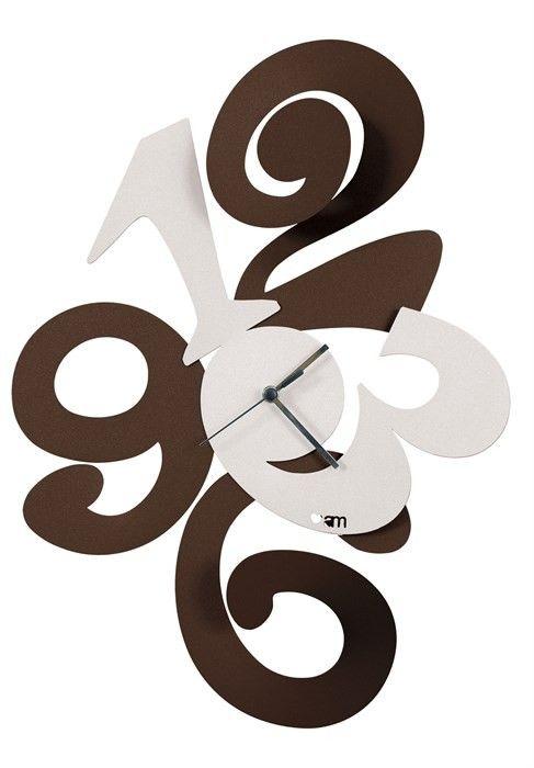 Zegar ścienny BALGOR Brąz i biel - Arti&Mestieri - DECO Salon #clock #wallclock #giftidea