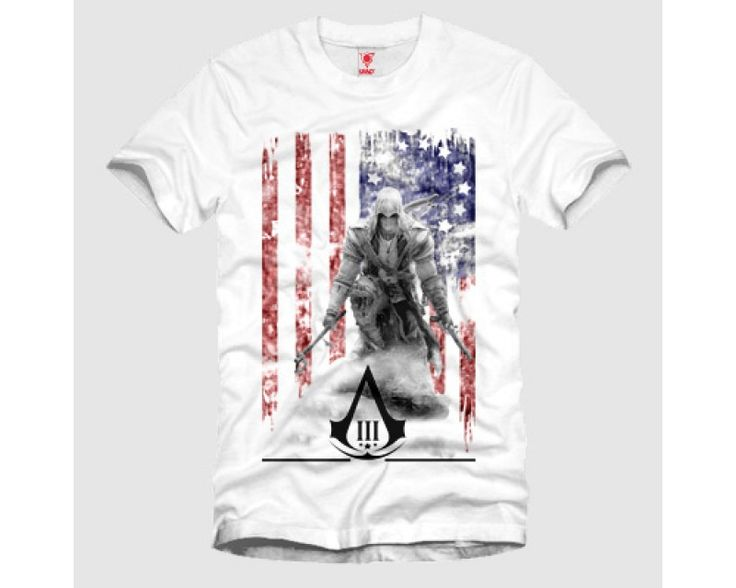 Assassins Creed 3 American Flag  Tshirt