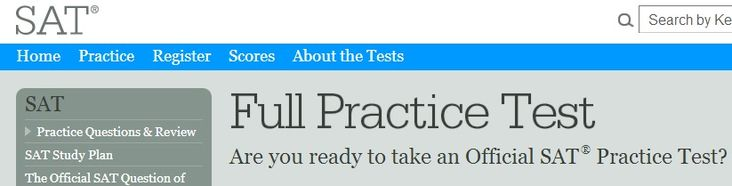 SAT Full Practice Test from CollegeBoard