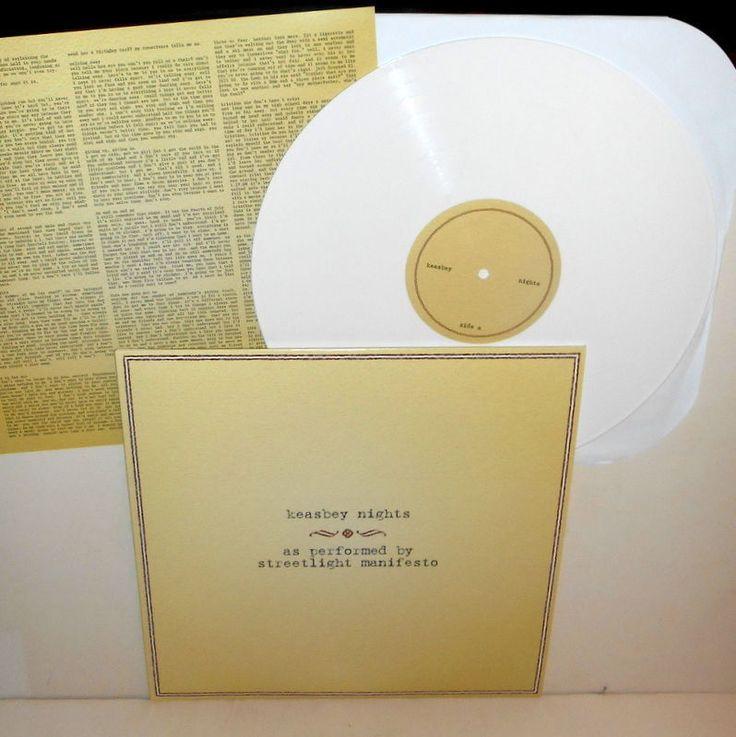 STREETLIGHT MANIFESTO keasbey nights Lp Record WHITE Vinyl w/ lyrics , catch 22…