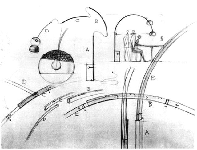 Achille Castiglioni > Lámpara Arco