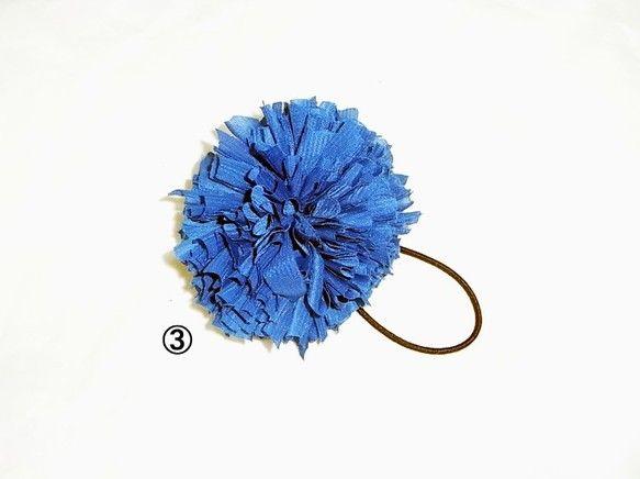 [Hair Bonbon] ジャージ素材一年中使える素材です。HAND MADE/MADE IN JAPAN③:ブルー系素材:ジャージカラー:華やかなブルーで...|ハンドメイド、手作り、手仕事品の通販・販売・購入ならCreema。
