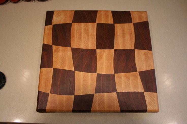 end grain cutting board designs - Google Search