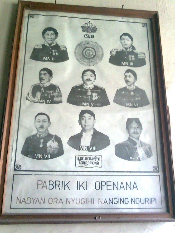 """Pabrik Gula Colomadu, Karanganyar, Jateng. Pesan raja Jawa untuk memelihara apa yang sudah ada.  """"NADYAN ORA NYUGIHI, NANGING NGURIPI"""""""