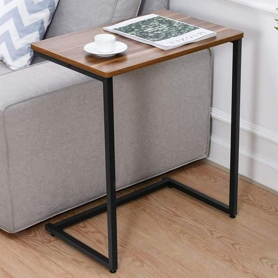 Sofa Side End Table C Table Multiple Stand 26 Inch For Small In 2020 Desks For Small Spaces Sofa Side Table Sofa Snack Table