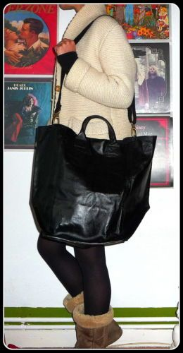SISLEY-100-Leder-NEU-Tasche-Handtasche-Schultertasche-Shopper-Bag-Leather-XXL