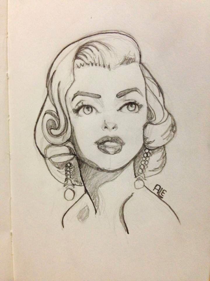 Marilyn Monroe Art. Looks a little like Tinker Bell.