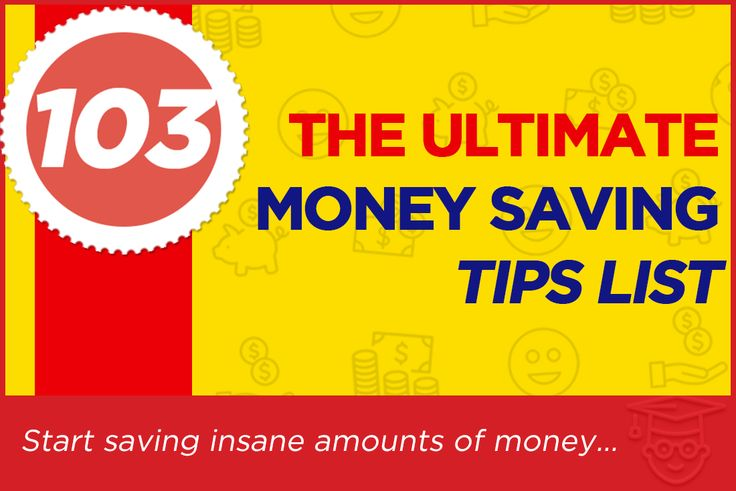 The Ultimate Money Savings Idea List :: See 103 powerful tips your family can use right away to start saving insane amounts of money.  See all the ideas here:  http://www.reallybadcreditoffers.com/blog/ultimate-list-of-money-saving-ideas/  One simple tip from this list can save you over $4800 every year and takes just a few moments to do.  Covering everything from DIY savings, maintenance around the house, personal habits and high impact items!