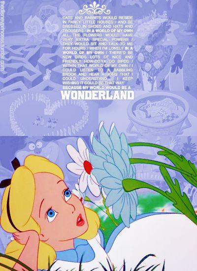 Alice in wonderland song lyrics