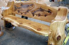 Chainsaw Carved Wood Benches | Free Wood Carving Bench Plans PDF Woodworking Plans Online Download