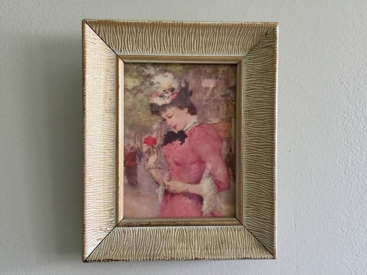 Victorian Style Picture with gold and cream frame Midcentury wall decor Zebra print frame by divinevintagechic on Etsy https://www.etsy.com/uk/listing/513040720/victorian-style-picture-with-gold-and