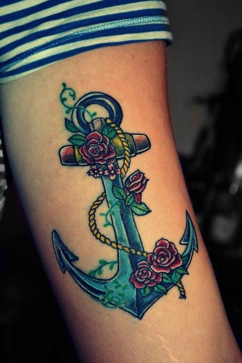 anchor tattoos for women | ... of Marine Corps Tattoo for Men and Women : Arm Anchor Tattoos Designs