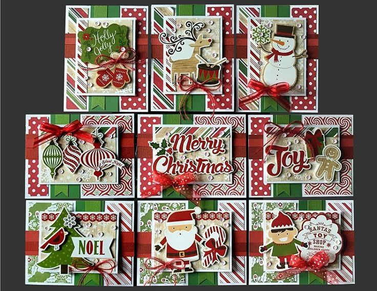 Holly Jolly Card Kit | Kim's Card Kits | Handmade Greeting Card Kit