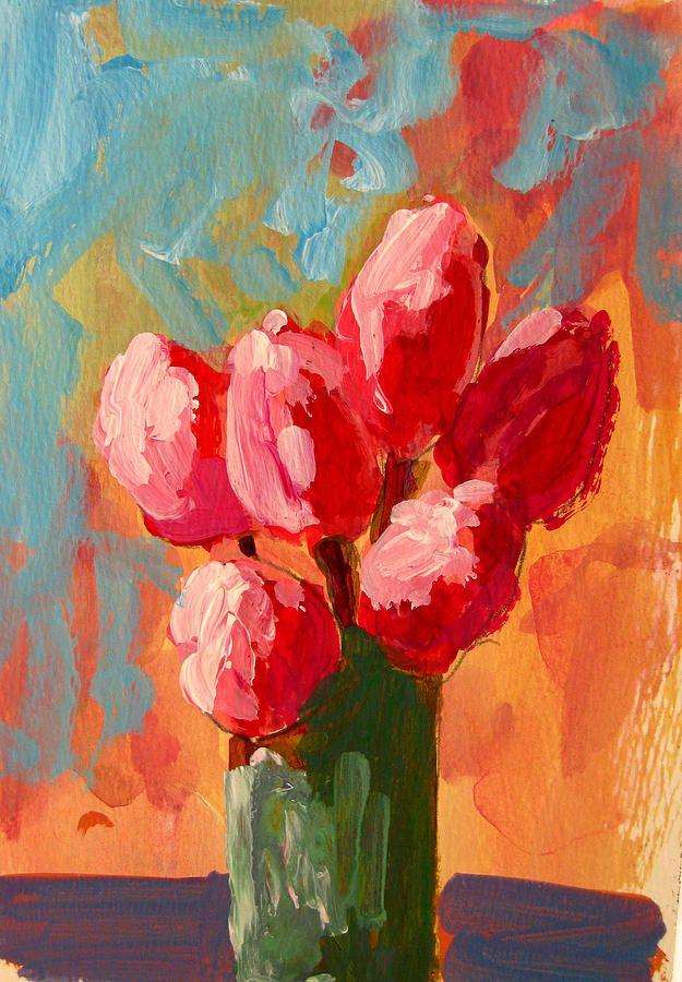 Roses Are Pink~Patricia Awapara - Tulips Paintings