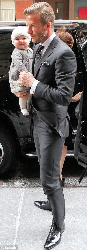 David Beckham style- he always has such nice suits! Love his men's