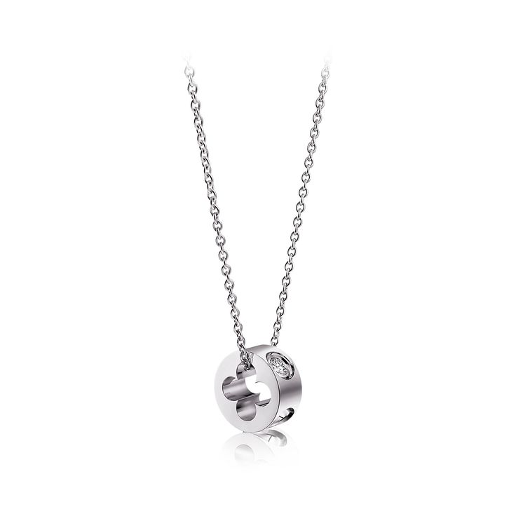 Small Empreinte pendant in white gold with diamond – Necklaces and Pendants Fine