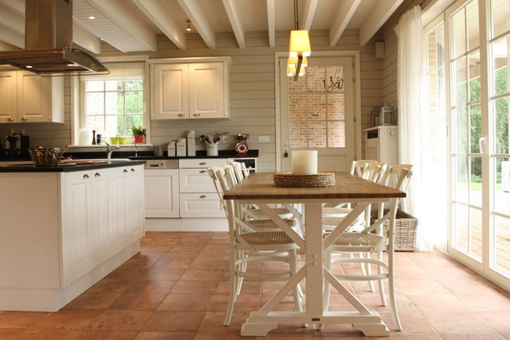 desire to inspire - white rustic kitchen