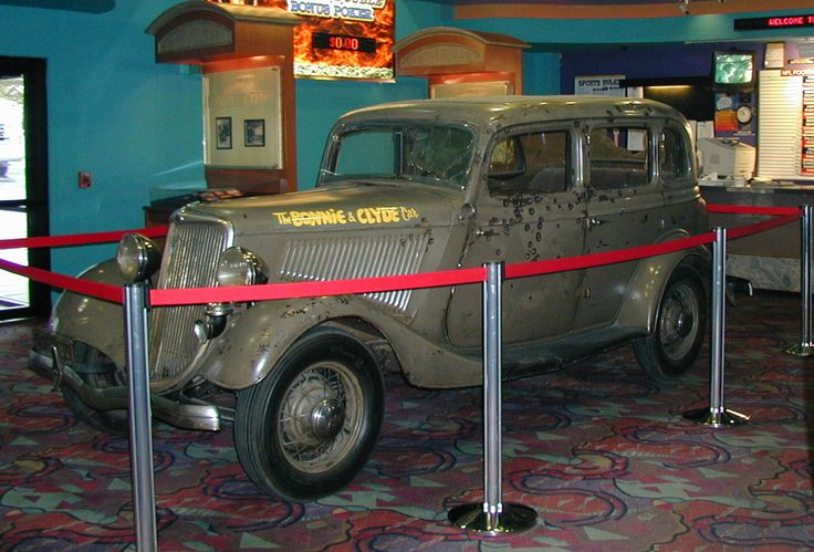 Picture Bonnie and clyde death, Bonnie and clyde car