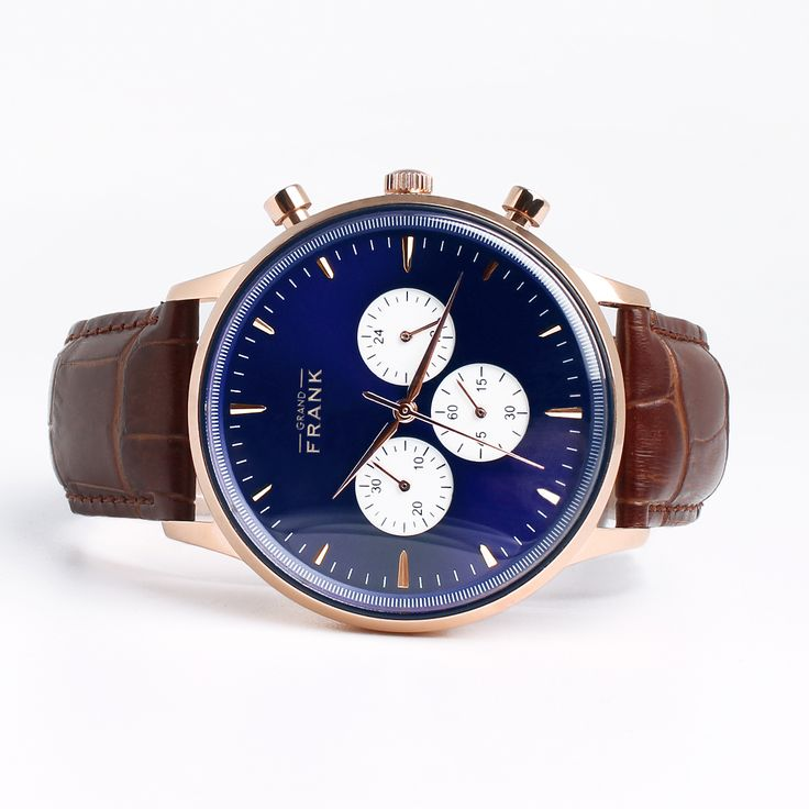 The Grand Frank - Montpellier Blue Chronograph Watch Get it at www.grandfrank.com