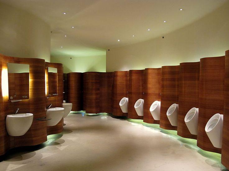 458 best mo office tower images on pinterest for Office restroom design