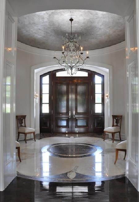 Dome Floor Medallion Entry Foyer Stairs Pinterest