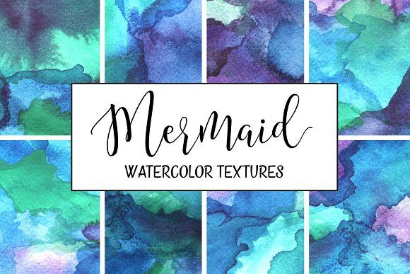 Mermaid Watercolor Backgrounds Watercolor Background Watercolor