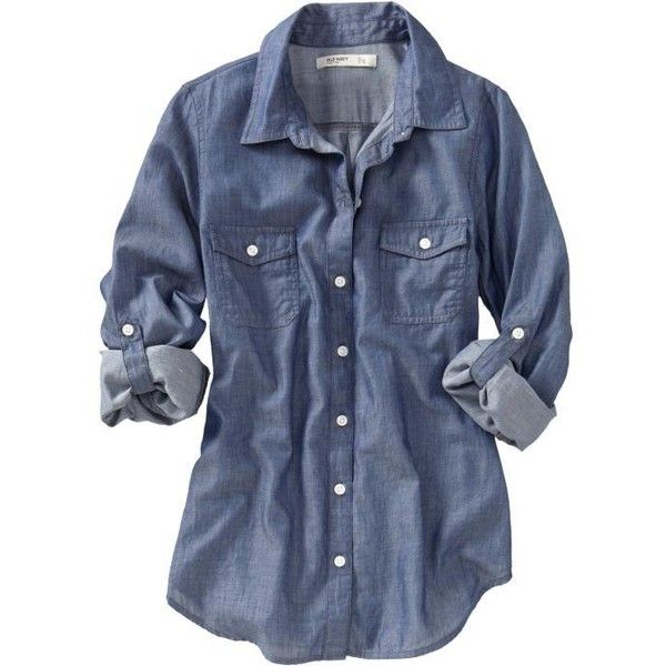 Old Navy Womens Chambray Shirts (24 CAD) found on Polyvore