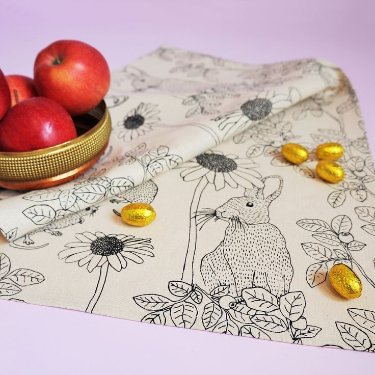 Agnes Tea Towel. Available in the webshop now. Hand printed & 100% hemp !
