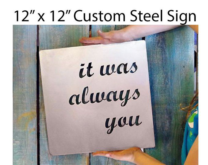 Custom Metal Quote Sign And Sayings Inspirational Personalized Sign Steel Wall Art Decor Sign Quotes Custom Quote Sign Personalized Signs