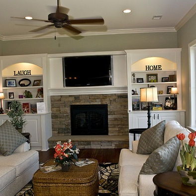built ins, positioning of couches, harth